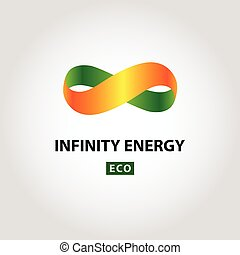 Infinity energy vector logo. Eco energy.