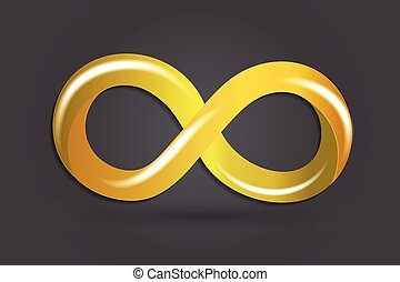 Infinity gold symbol