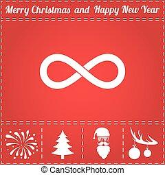Infinity Icon Vector. And bonus symbol for New Year - Santa...