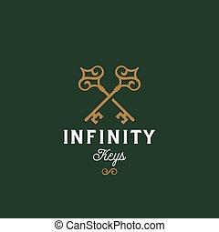 Infinity Keys. Abstract Vector Sign, Symbol or Logo...