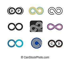 Infinity logo icon vector illustration design