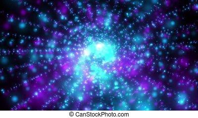 Infinity loop - rotating light beams in the infinity, loop...