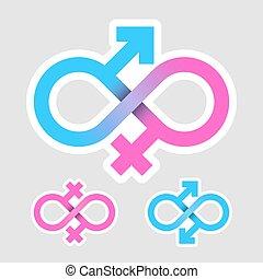 Infinity love concept