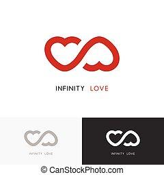 Infinity love logo