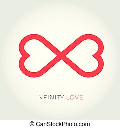 Infinity love logo. Valentine and relationship vector icon.