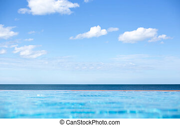 Infinity Luxury Swimming Pool with clear sky