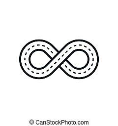 Infinity road symbol