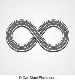 Infinity road vector background