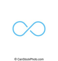 infinity shape line icon. linear style sign for mobile concept and web design. outline vector icon. Symbol, logo illustration. Vector graphics