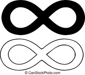 infinity sign on white background