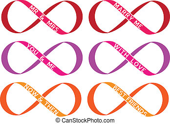 infinity sign, vector set