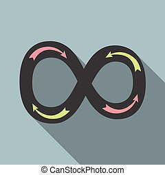 Infinity sign with arrows