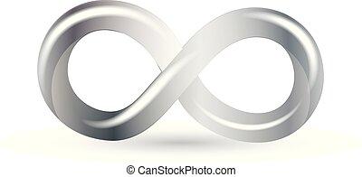 Infinity silver symbol