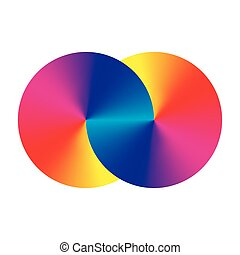 Infinity symblol of interlaced circles. Vector sign with...