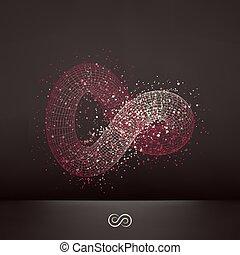 Infinity symbol. Abstract 3d design element, emblem. ...