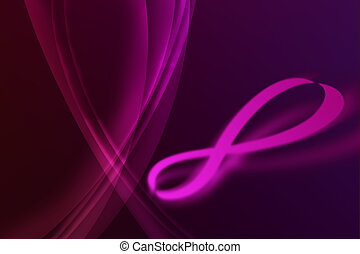 Infinity Symbol - Infinity symbol abstract play on violet...