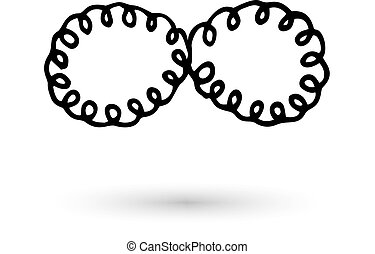 Infinity symbol hand drawn with ink brush