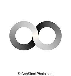 Infinity symbol icon, aka lemniscate, looks like sideways...
