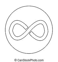 infinity symbol icon illustration design