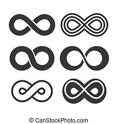 Infinity Symbol Icons Set. Vector