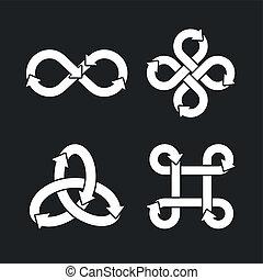 Infinity symbol icons.