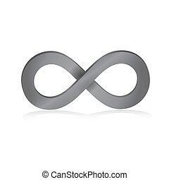 Infinity symbol in pink 3d - Pink infinity symbol in 3d...