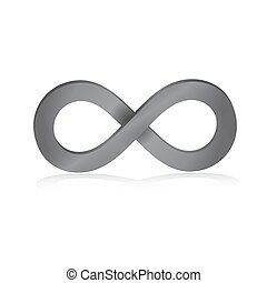 Infinity symbol in pink 3d