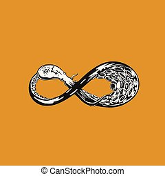 Infinity symbol in white color vector illustration