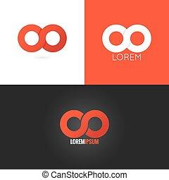 infinity symbol logo design icon set background