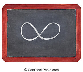 infinity symbol on blackboard - infinity symbol - white...