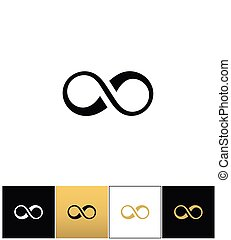 Infinity symbol or cycle eternity vector icon