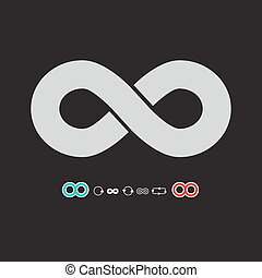 Infinity Symbol Set on Dark Background