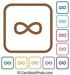 Infinity symbol simple icons