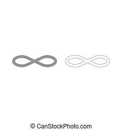 Infinity symbol the grey set icon .