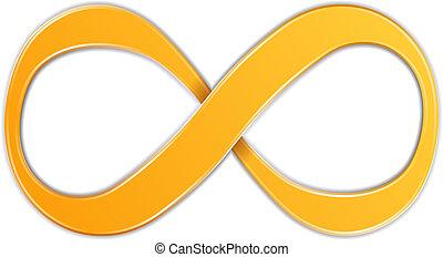 Infinity Symbol - Orange infinity symbol, vector eps10...