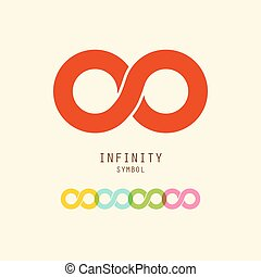 Infinity Symbol. Vector Endless Icons Set.