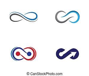 Infinity symbol vector icon