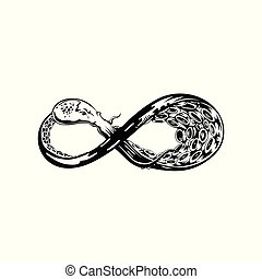 Infinity symbol vector illustration - Infinity symbol on...