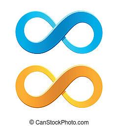 Vector illustration of an infinity symbol