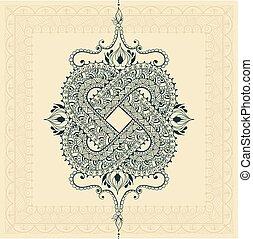 Infinity tattoo template in mehndi style