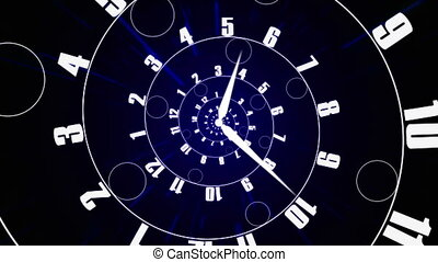 Infinity time spirals animation. - Infinity time spirals...