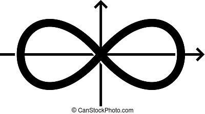 Infinity vector symbol (on white background)