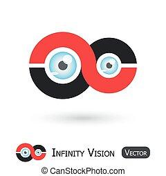 Infinity Vision ( Infinity sign and eyeball )