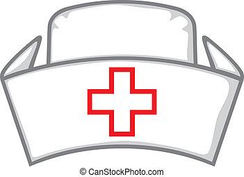 infirmière, casquette