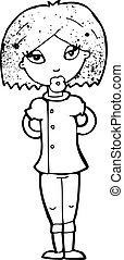 infirmière, dessin animé