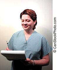 infirmière, docteur, 5, monde médical, ou