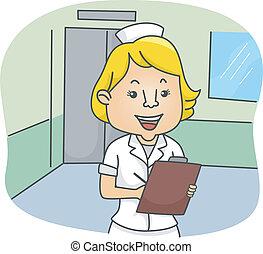 infirmière, femme