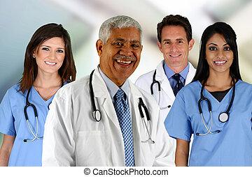 infirmière, médecins