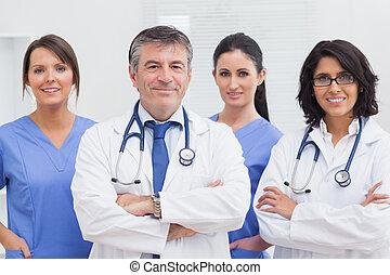 infirmières, deux, médecins