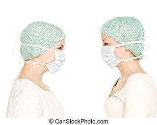 infirmières, femme